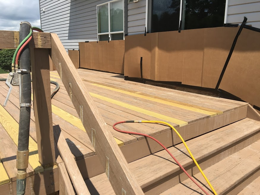 330 Dustless Blasting - Residential Deck Cleaning