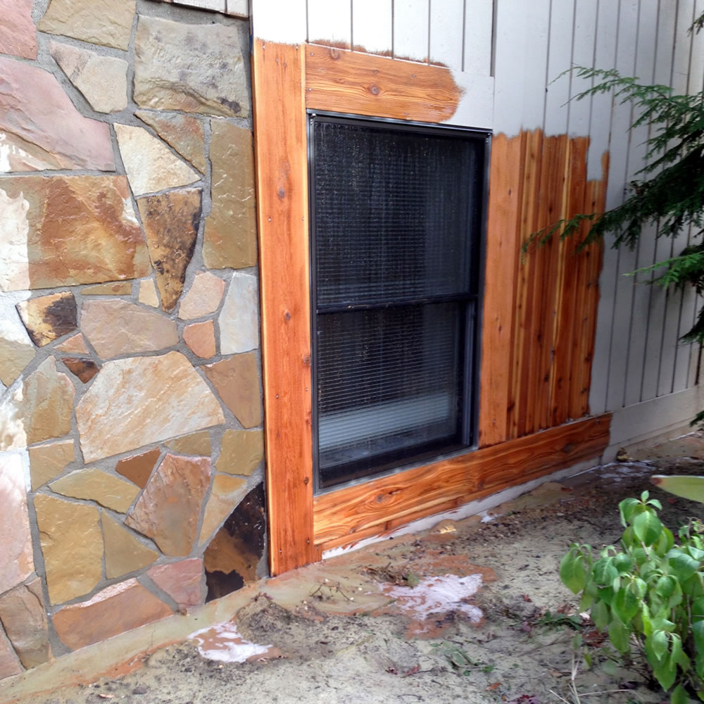 Clean paint - residue from brick, masonry, wood, cedar siding, and decks