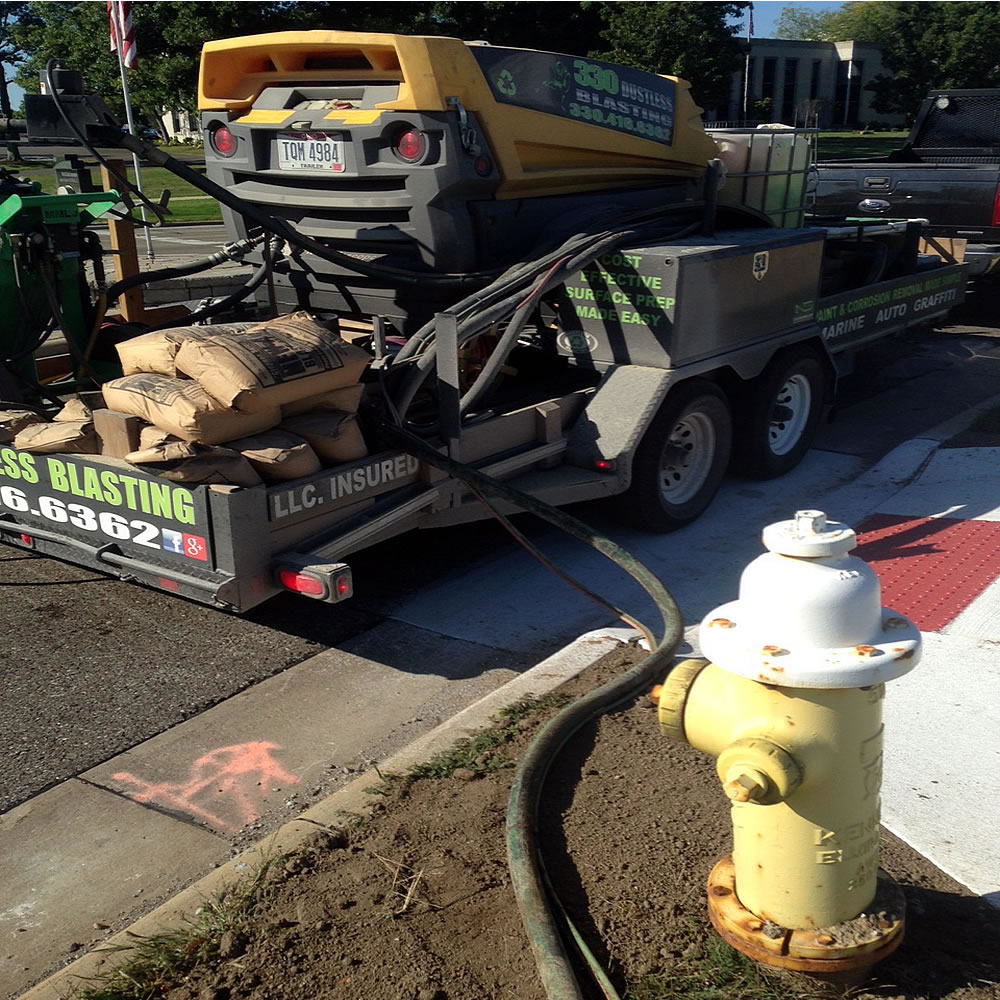 How Mobile and SAFE Our Dustless Blasting System Is!