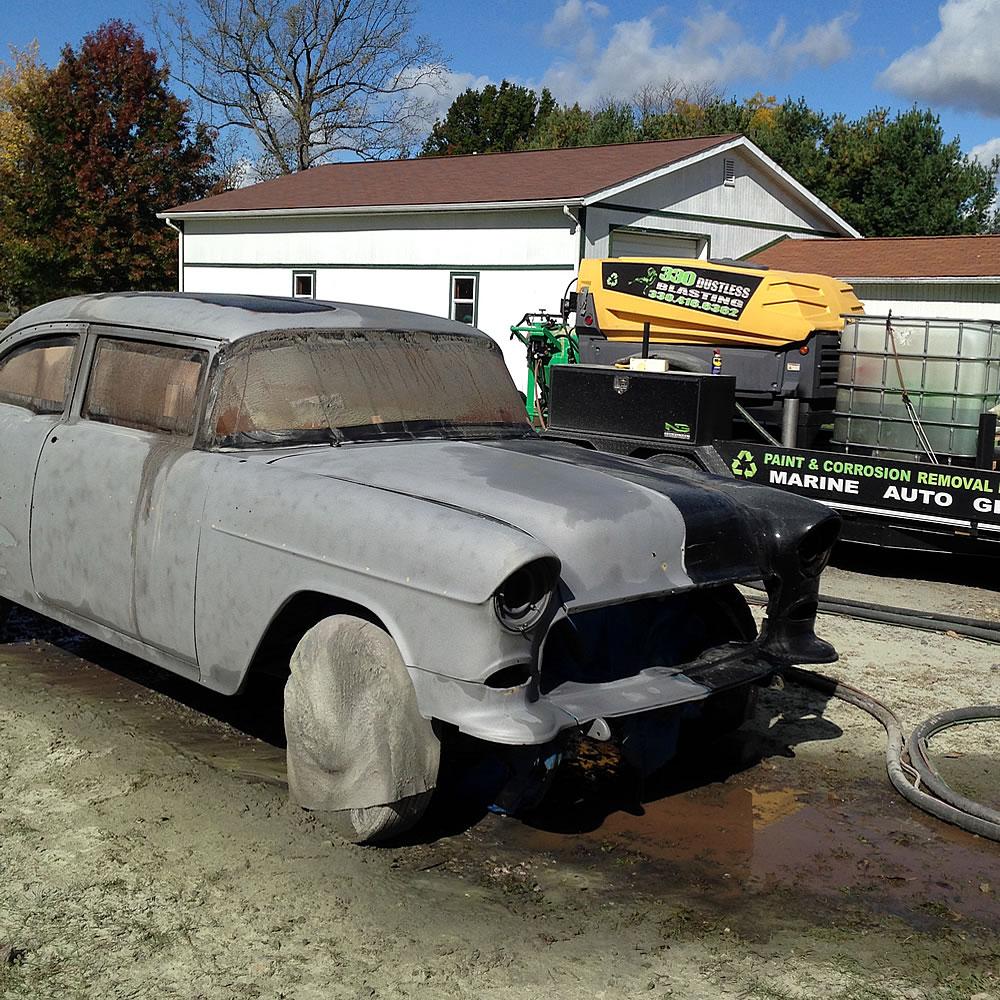 330 Dustless Blasting - 1955 Chevy Restoration