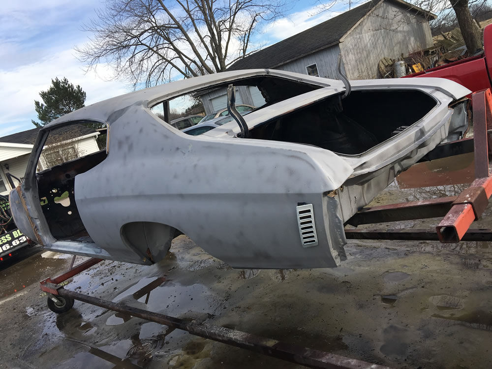 Auto Restoration Project - 330 Dustless Blasting Cleaned!