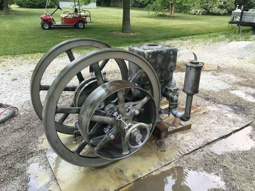 Industrial Engine Renovation - 330 Dustless Blasting