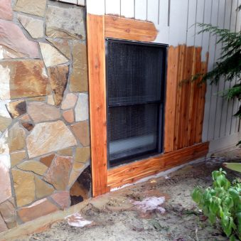 Residential Stone Masonry - Wood Cleaning